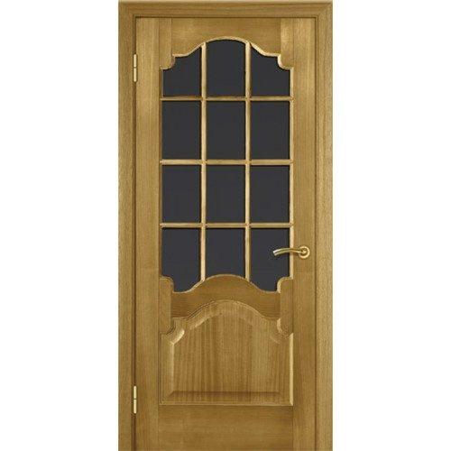 Межкомнатные двери из шпона анегри со вставками из стекла