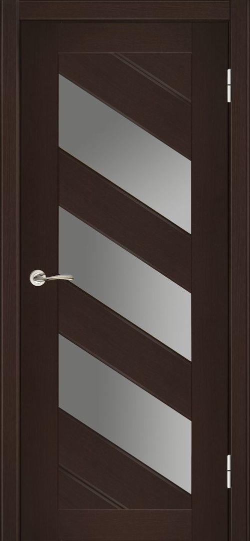 Межкомнатные двери цвета венге со стеклянными вставками