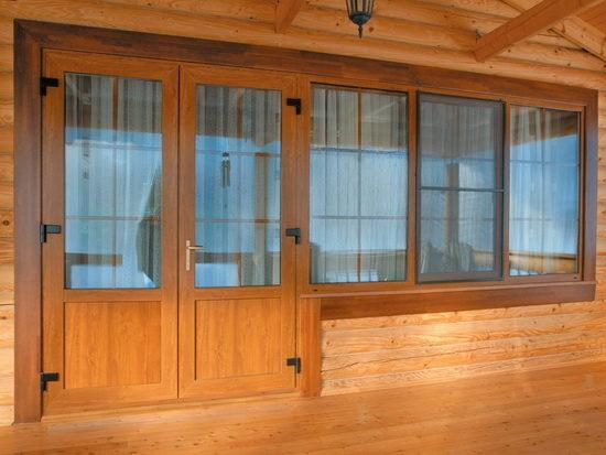 Двупольные двери на террасу