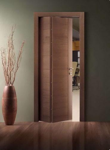 Легкие и практичные межкомнатные двери «гармошка» или «книжка