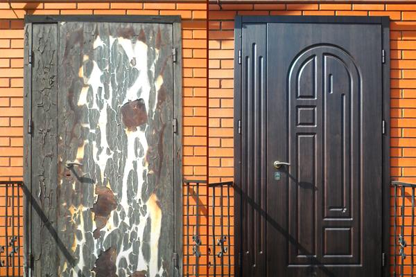Реконструкция проржавевшего дверного полотна