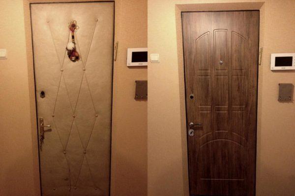 При ремонте дверного полотна выполните ее стежку или обивку.
