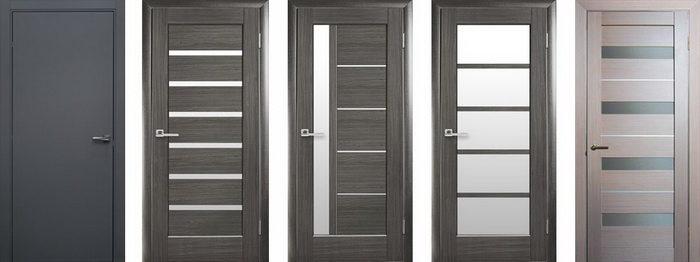 Двери серого цвета для рабочих и офисных помещений