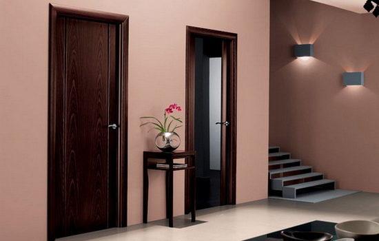 Двери из натурального материала в интерьере квартиры