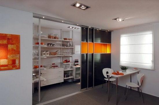 Раздвижные двери для кухни