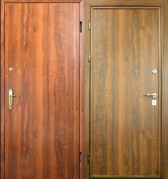 Использование ламината для отделки железной двери снаружи