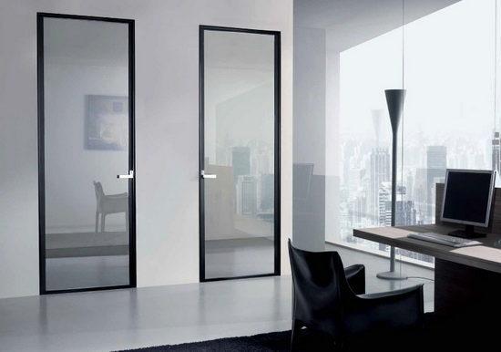 Алюминиевая межкомнатная дверь