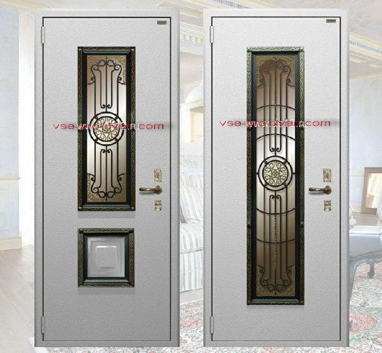 Двери входные Guardian со стеклопакетом Бронза