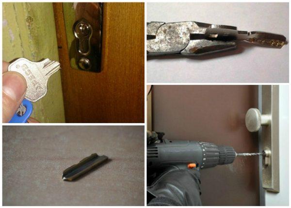 Как открыть замок без ключа на входной двери, если ключ сломался в скважине