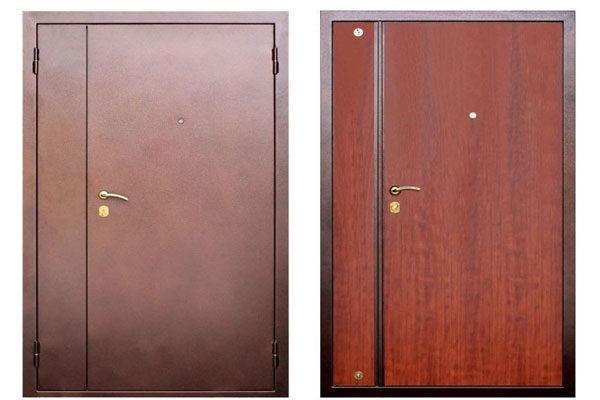 Какой должна быть толщина металлических листов, из которых собрана дверная конструкция и состав стали.