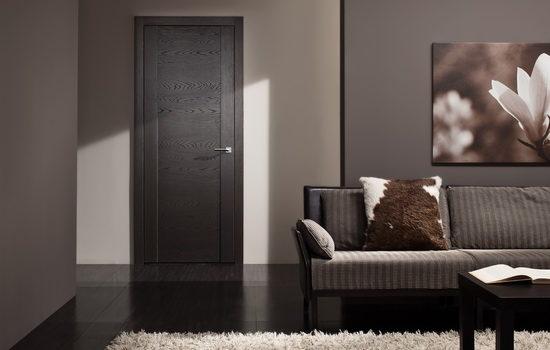 Красивые межкомнатные двери из шпона