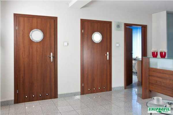 Деревянные маятниковые двери