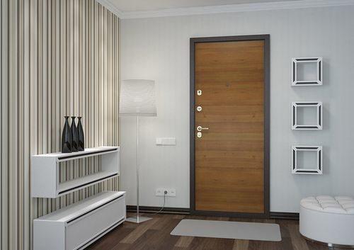 Пример отделки двери ламинатом