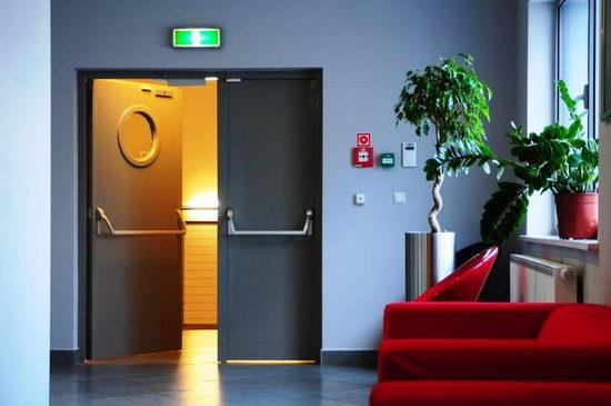 Противопожарные двупольные металлические двери