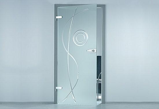 Дверь с матовым стеклом