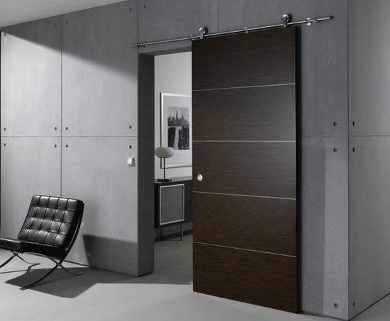 Варианты дизайна межкомнатных дверей цвета венге