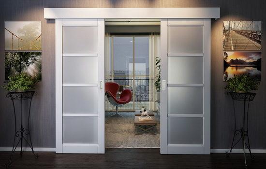 Сдвижные двойные двери