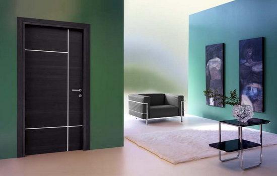 Для выбора цвета двери необходимо учесть основной цвет в комнате