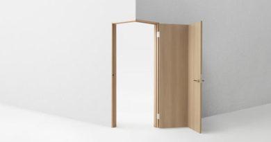 Угловые межкомнатные двери в интерьере