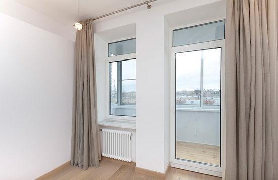Обвязка балконной двери из металлопластика