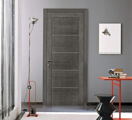 Каркасные двери сплошного типа с ламинированной или шпонированной обшивкой