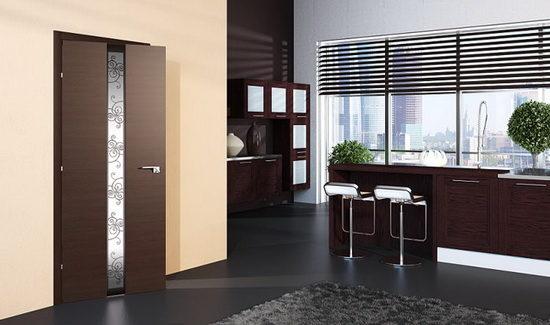 дверное межкомнатное полотно темного оттенка