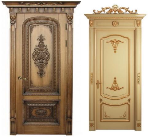 Дверь из цельной древесины