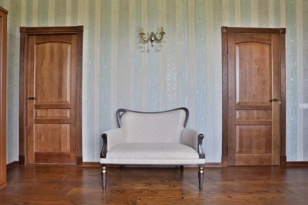 Шпонированные межкомнатные двери визуальные особенности