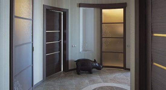 Крепления для распашных дверей полукруглой формы