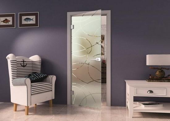 Распашные прозрачные двери