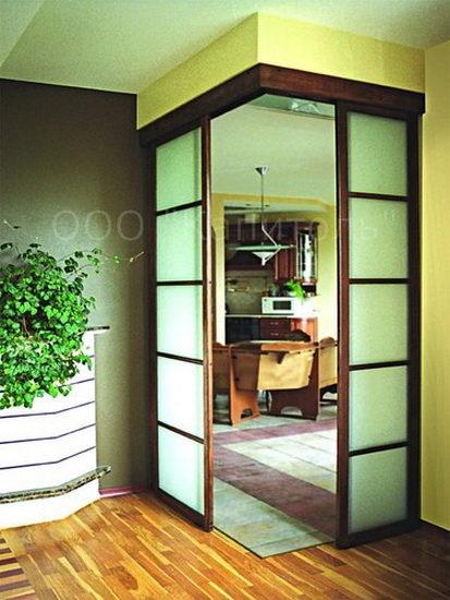 Установка угловой двери в кухню