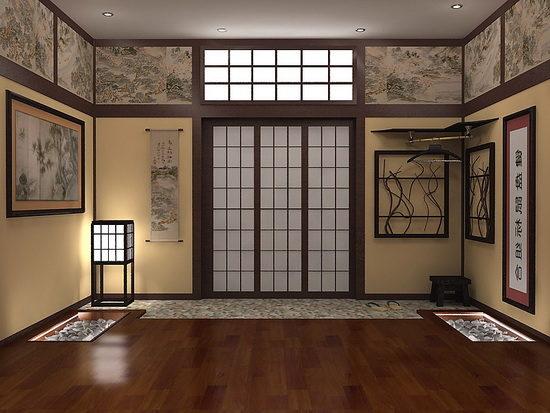 Японские раздвижные межкомнатные двери в дизайне интерьера