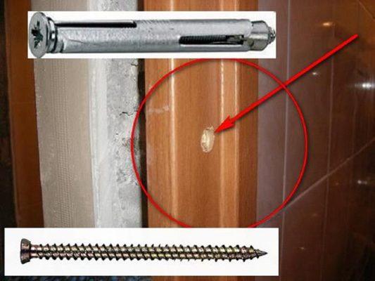 Установка двери на анкерное крепление