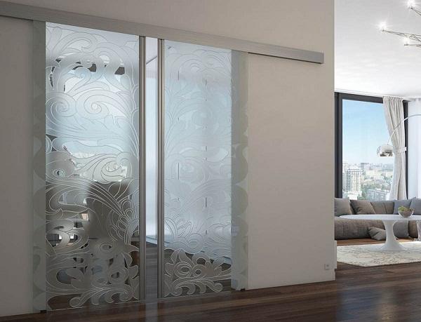 алюминиевые межкомнатные двери в дизайне интерьера фото