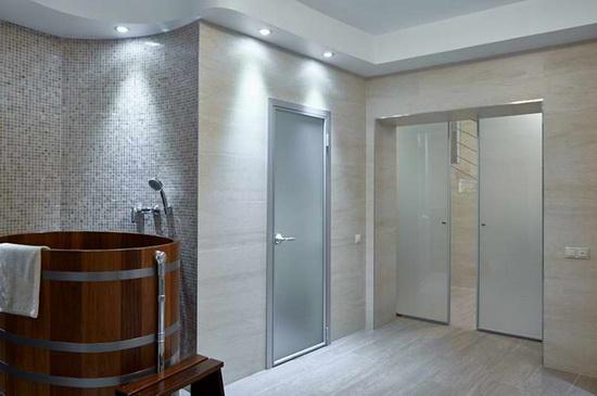 распашные алюминиевые межкомнатные двери фото