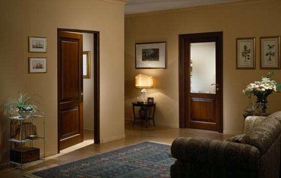 Темные двери светлый ламинат