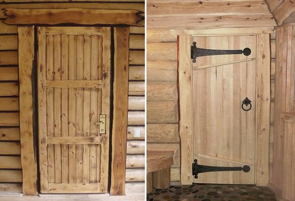 Щитовая дверь в баню фото