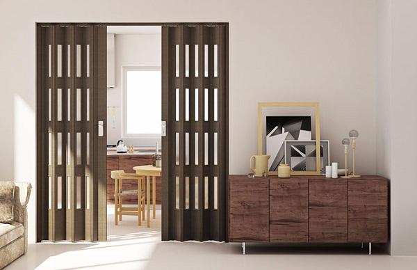 Выбор межкомнатной двери гармошки: виды и особенности материала