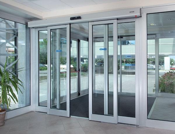 Раздвижные автоматические входные двери