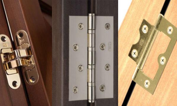 модификации петель для межкомнатных дверей