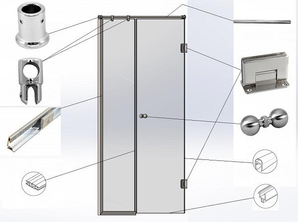 фурнитура для межкомнатных дверей из стекла
