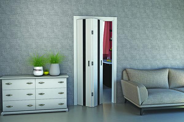 межкомнатные двери гармошки фото в интерьере квартир