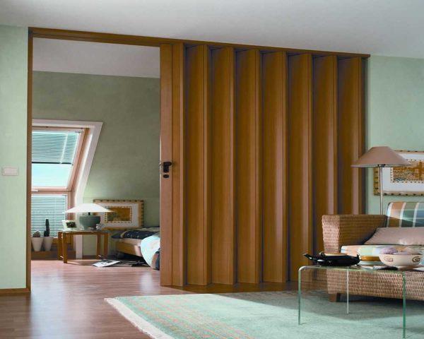 Шарнирно-складчатые двери в квартире фото