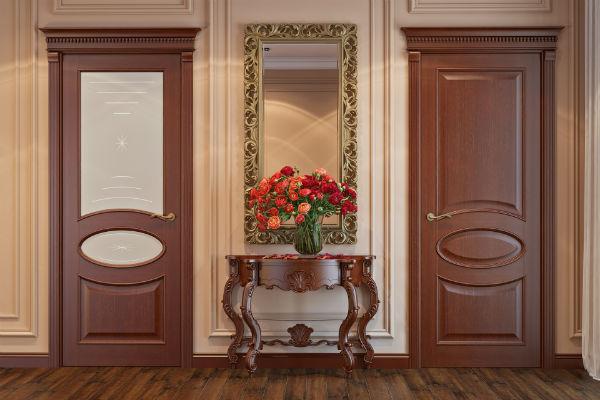 Дверь из шпона из ценных пород дерева