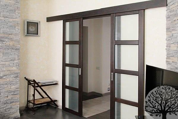 Типы раздвижных межкомнатных дверей