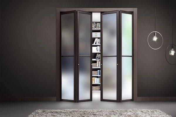 преимущества складной межкомнатной двери книжки