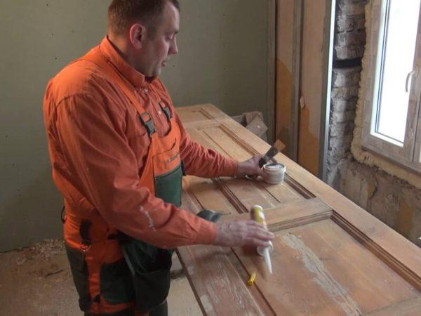 ремонт деревянной межкомнатной двери
